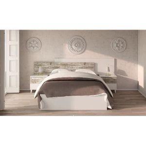 TÊTE DE LIT Tete de lit avec 2 chevets coloris blanc brillant
