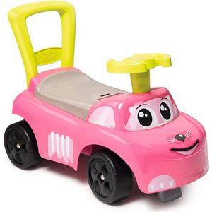 PORTEUR - POUSSEUR SMOBY - Porteur Auto Enfant Rose