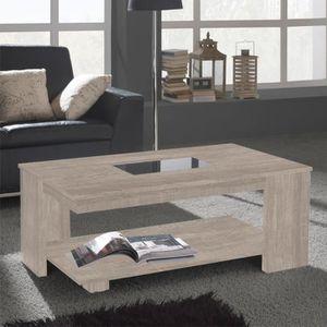TABLE BASSE Table basse relevable Chêne clair - DIPA - L 110 x