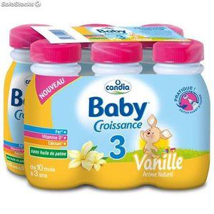 LAIT BÉBÉ CANDIA Baby Croissance Lait saveur vanille - 6 x 2