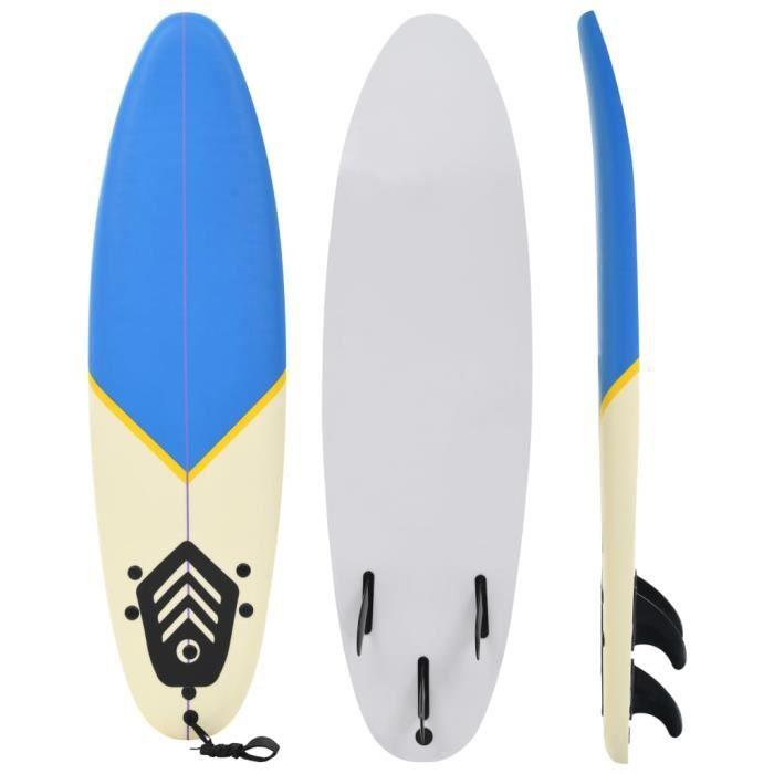 YAJIASHENG Planche de surf 170 cm Bleu et crème