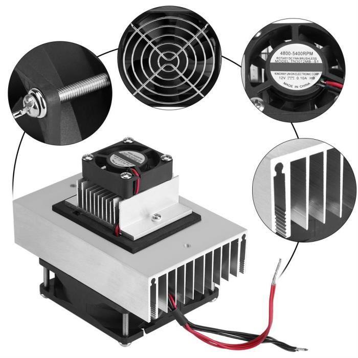 Système de refroidissement Réfrigérateur - Réfrigération Kit DIY Climatiseur DC12V semiconductor-HEN