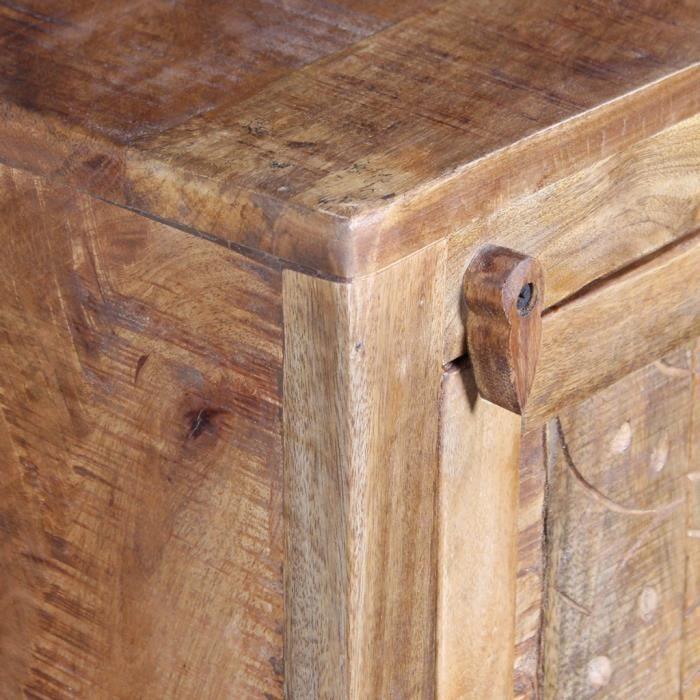 Ensembles de mobilier pour salles de bains Meuble toilette+miroir et 2 armoires laterales Bois de manguier
