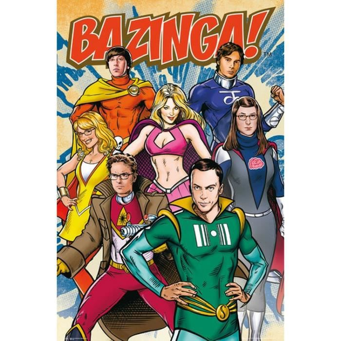 The Big Bang Theory - Super Heros - 61x91,5cm - AFFICHE - POSTER
