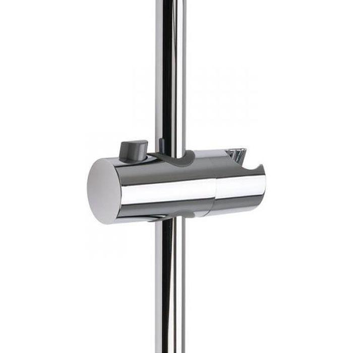 Curseur pour barre de douche chromé avec poussoir - 25 mm - Sélection Cazabox