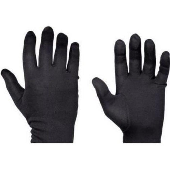 Paire de sous gant de coloris noir en taille S pour la saison d'hiver Vicma Taille S