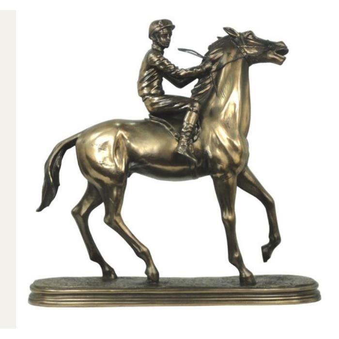 Statuette Jockey cheval de course