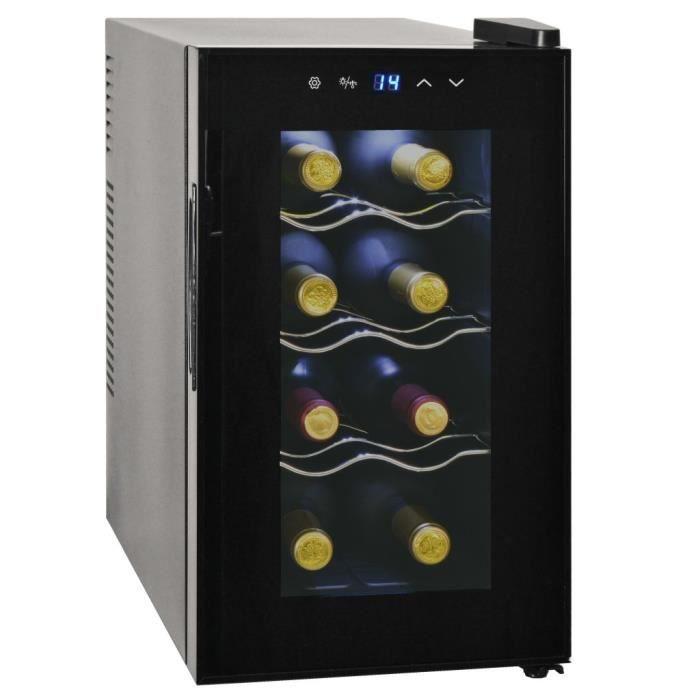 Cave à vin multi-températures Cave à vin de service Frigo à vin 25 L 8 bouteilles Affichage LCD