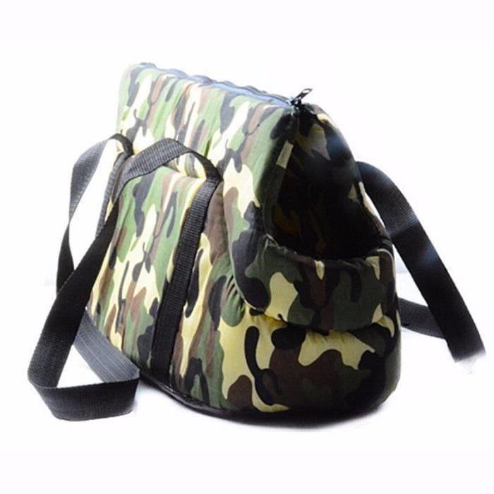 Abrrlo sac à dos pour chien Sac classique pour petit chien, Chihuahua, sac à dos confort - Type Camouflage Green-M