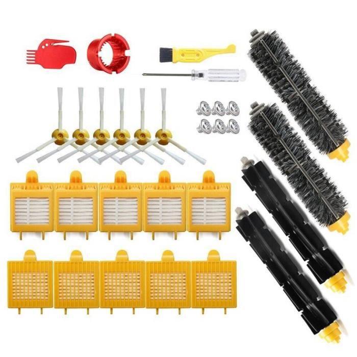 JAC1 Filtre et brosse Kit de remplacement pour Irobot Roomba 700 série 760 770 780 790 aspirateur Hepa filtre poils et batteur Fle