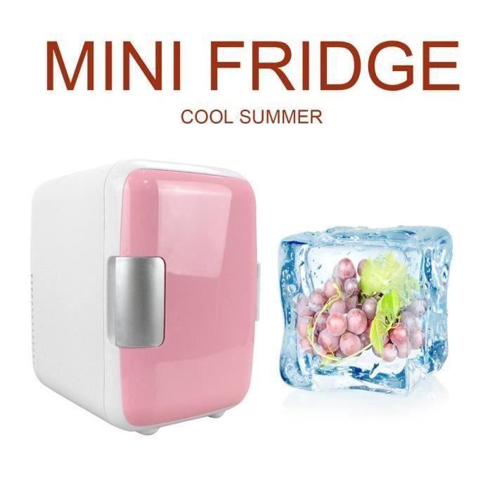 12V 4L voiture mini réfrigérateur portable refroidisseur de voyage réfrigérateur Rose ROSE90226086