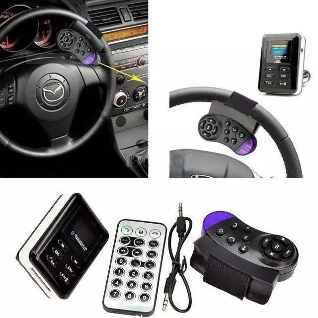 Transmetteur FM Bluetooth Kit voiture lecteur MP3 Volant USB - SD - MMC mains libres Go70188
