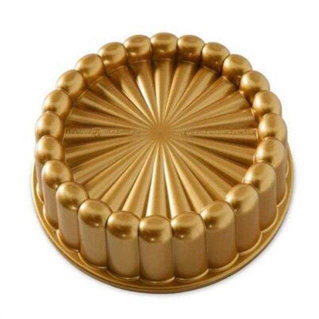 Charlotte moule à gâteau, taille unique, or Thanksgiving noël famille gâteau moule accessoires de cuisine*DD9602