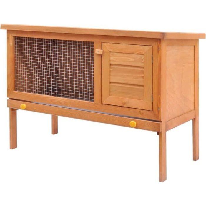 Clapier d'extérieur - 90 x 45 x 65,5 cm Cage Clapier lapin Extérieur Petits animaux Enclos - Enclos pour petits animaux 1 niveau