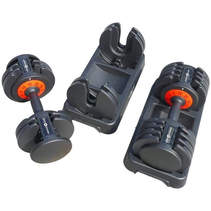 207>RPM Power 25KG Adjustable Dumbbell [paire], idéal pour les entraînements à domicile, la musculation, le déveloParent