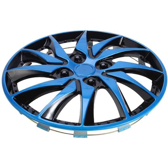 2 Pièces 14 Pouces Bleu Noir Réplique Enjoliveurs Couverture De Cas De Roue De Voiture Caps pour Véhicule Tronc Automobile Auto Caré