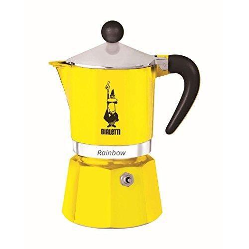 Bialetti 4981 Rainbow Espresso Maker, Yellow