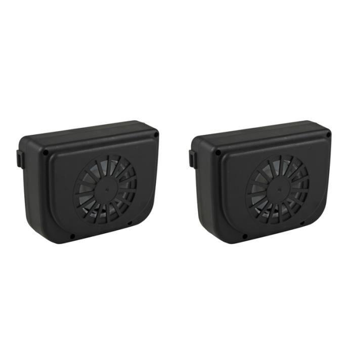 2 Pièces Portable Durable Solaire aerateur - grille d'aeration - terminaux de soufflage genie thermique - climatique - chauffage
