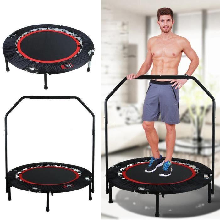 Mini Trampoline fitness pliable Trampoline de Gym pour adulte enfant 80*40*14cm Poids Utilisateur Max 135 kg-Rouge
