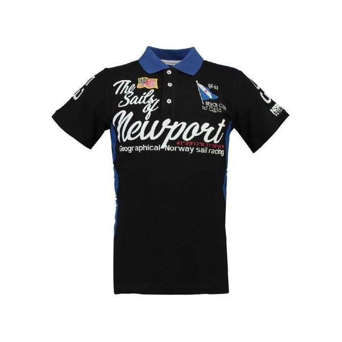 Polo Homme Geographical Norway Kayport Noir
