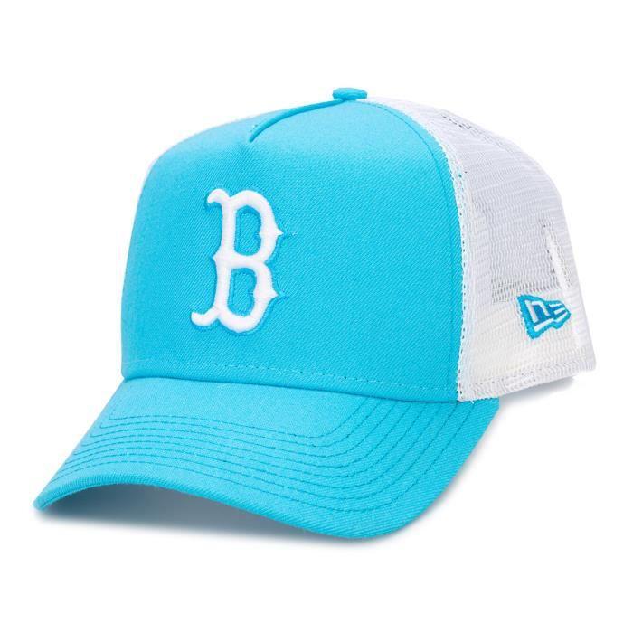 New Era Mens Boston Red Sox 9Forty Trucker Cap Bleu Accessoires