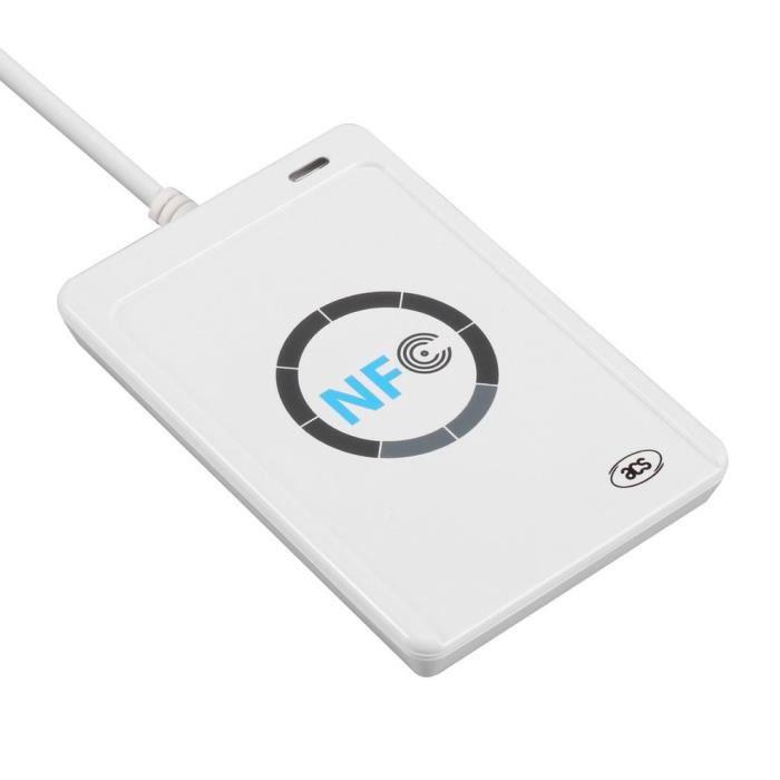 Lecteur intelligent sans contact RFID NFC ACR122U USB + 5 cartes M1 - blanc
