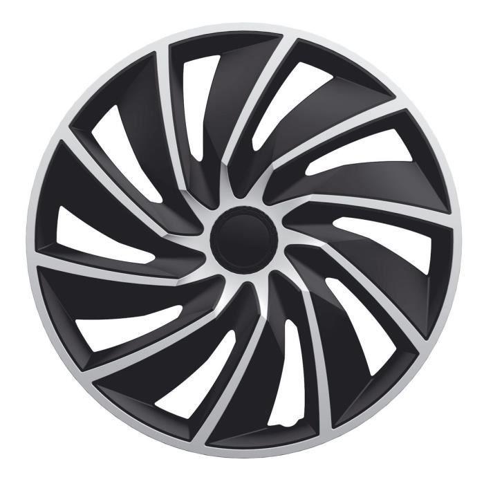 POLAIRE Enjoliveur Turbo Silver Black Silver 16-