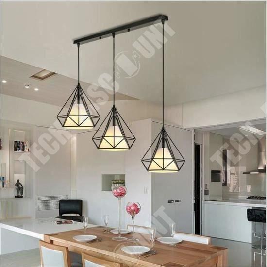 TD® Lustre forme diamant style moderne contemporain pour décoration intérieur chambre salon design industriel tendance de qualité
