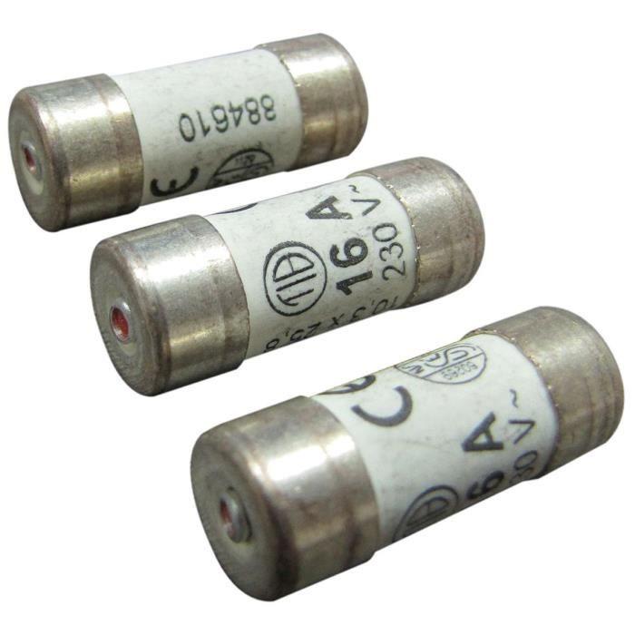 TIBELEC Fusibles à voyant - 10,3 x 25,8 mm