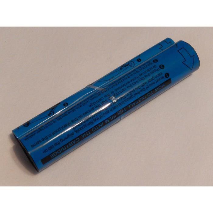 vhbw rouleau papier thermique bleu 100 m pour fax ou imprimante Panasonic KX-F 1110, KX-F 1800, KX-F 1810