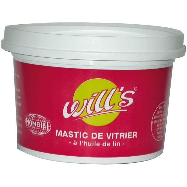 WILL'S Mastic vitrier à l'Huile de lin - Acajou - 1 kg