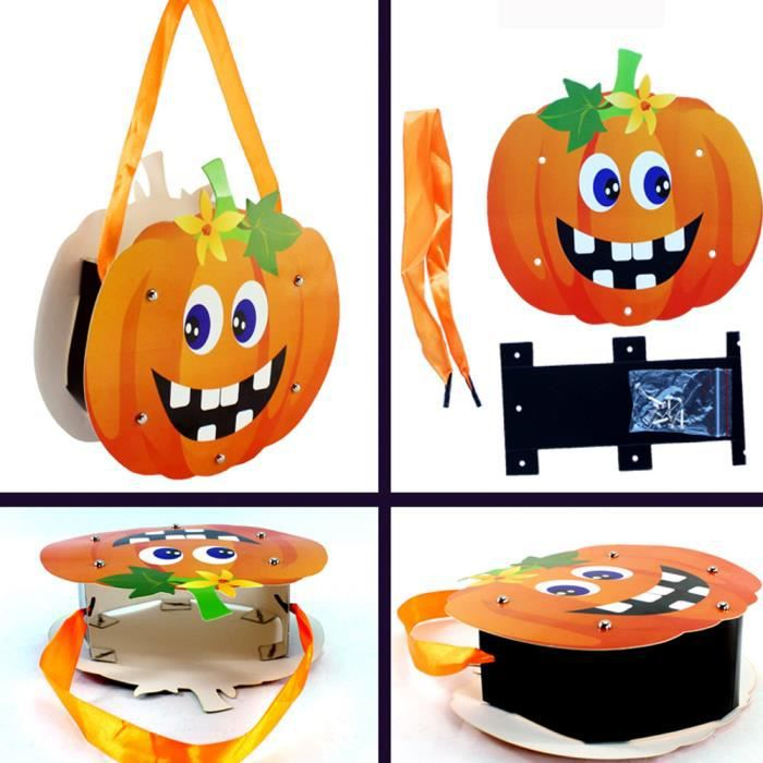 halloween mignon bricolage papier bonbons sac paquet enfants partie stockage sac de sucre qw865. Black Bedroom Furniture Sets. Home Design Ideas