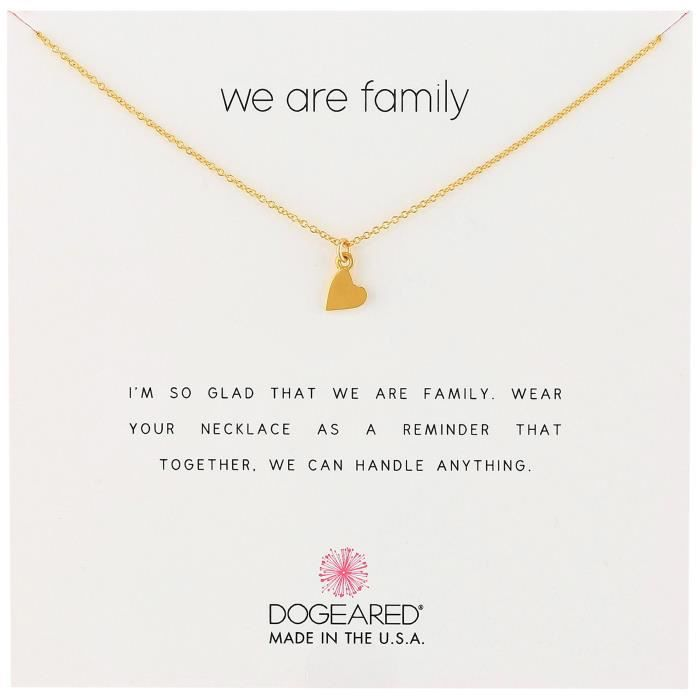 Dogeared We Are Family Heart Pendant Necklace, 18 U4EPY