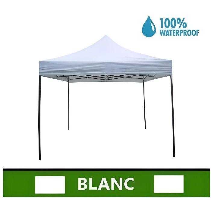 Tonnelle/Tente de jardin pliante - Gazebo - Imperméable en métal 3mX3m  Blanc - mod. Super Ignis