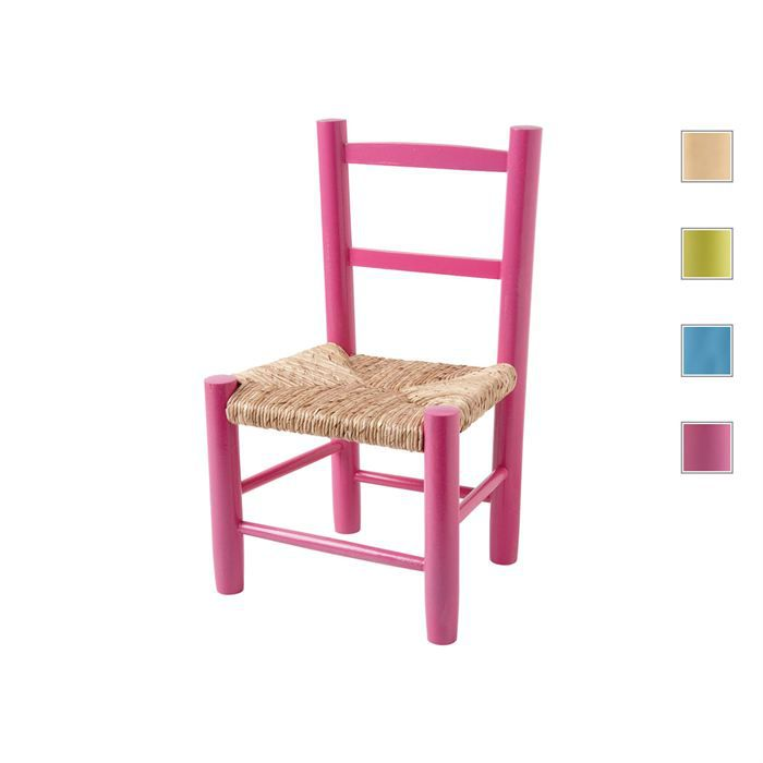 chaise enfant laniel en h tre en coloris rose rose achat vente chaise tabouret b b. Black Bedroom Furniture Sets. Home Design Ideas