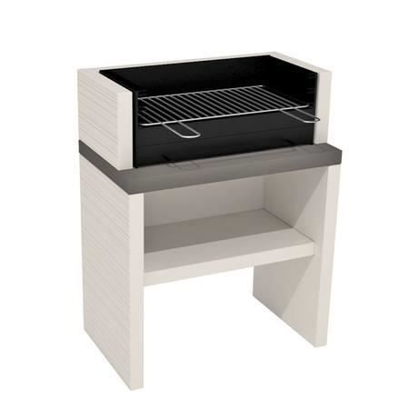 barbecue fixe en b ton blanc gris cairns achat vente barbecue barbecue fixe en b ton blan. Black Bedroom Furniture Sets. Home Design Ideas