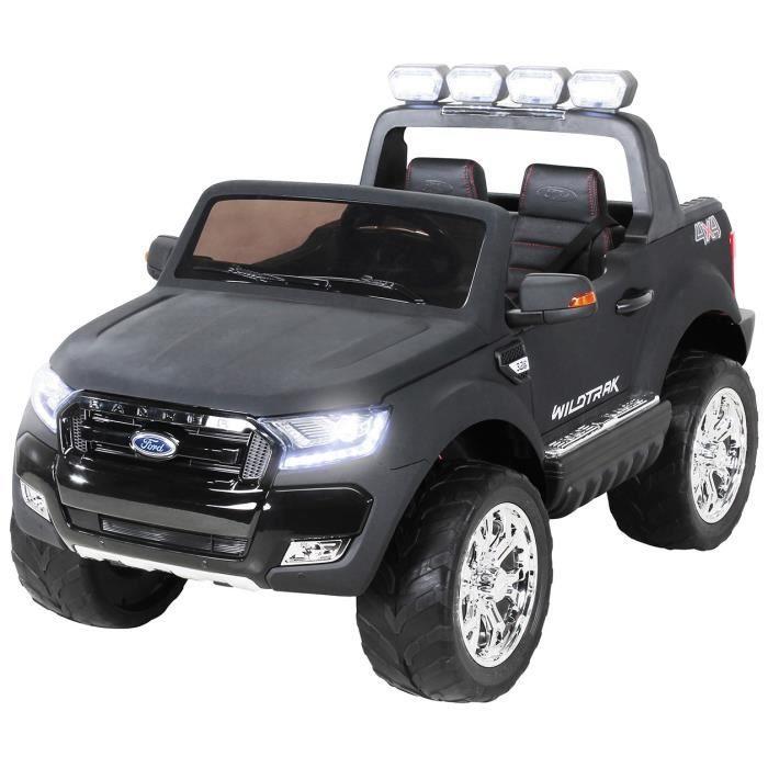 Petite voiture quad électrique pour enfant Ford Ranger 2 places vers luxe cuir