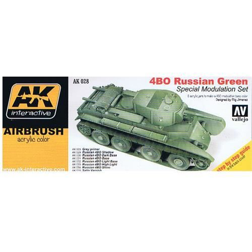 ACCESSOIRE MAQUETTE Vallejo Model Air Set - (AK Interactive) 4BO Russi