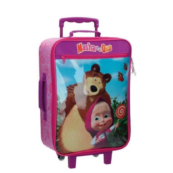 masha et michka bagage enfant valise trolley cabine achat vente valise bagage. Black Bedroom Furniture Sets. Home Design Ideas