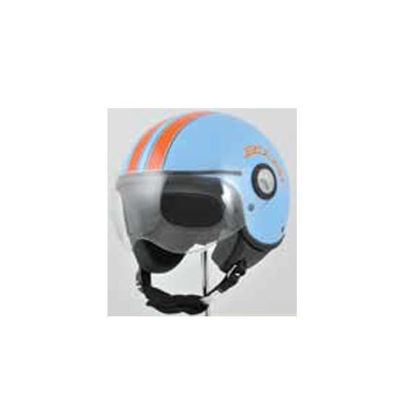 casque moto boost retro 2 bleu orange achat vente. Black Bedroom Furniture Sets. Home Design Ideas