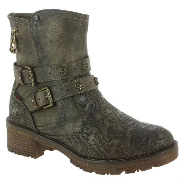 femme Cigare boots 1284 mustang 1284 Bottines 606 606 Rj534LA