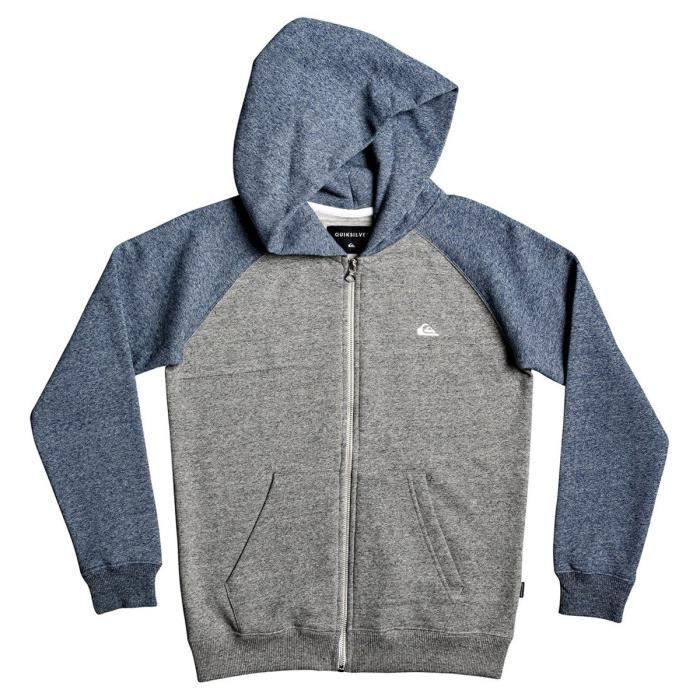 Sweat zippé enfant Quiksilver Everyday gris