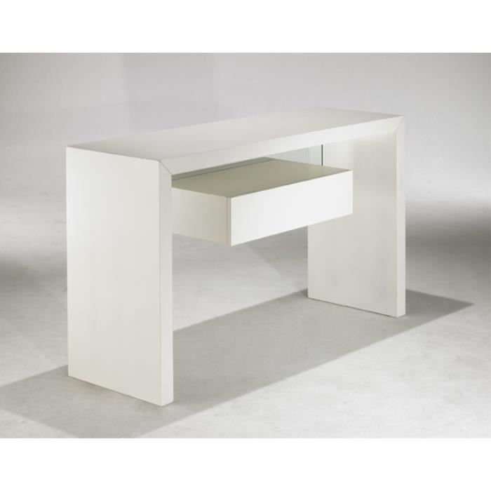 console bureau blanc. Black Bedroom Furniture Sets. Home Design Ideas