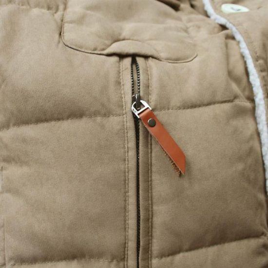 Lee Cooper Homme Sherpa Col Veste Manteau Haut à Manches Longues Patte De Boutonnage Hiver