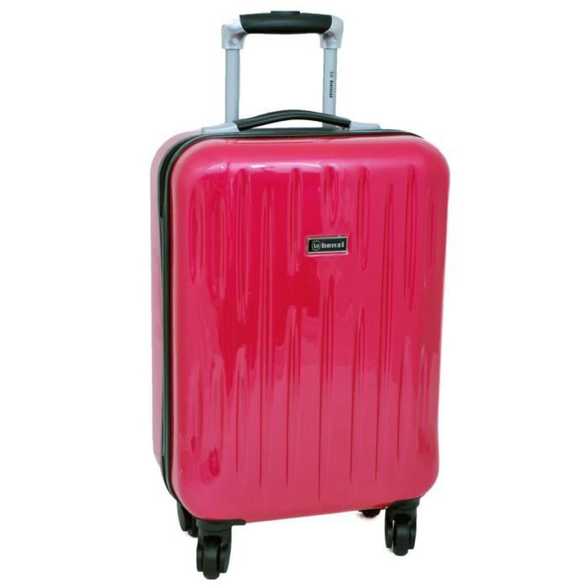 valise rigide roulettes cabine 4 roues en abs rose fushia rose achat vente valise bagage. Black Bedroom Furniture Sets. Home Design Ideas