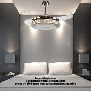 VENTILATEUR DE PLAFOND Ventilateur de Plafond Télécommande et LED à 3 Cou