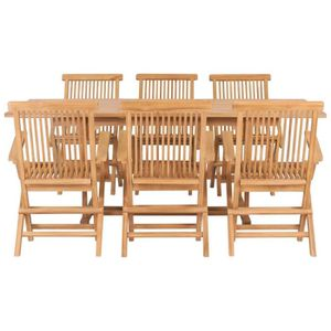 Ensemble table et chaise de jardin Festnight Ensemble Salle à Manger d'Extérieur en b