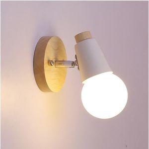 APPLIQUE EXTÉRIEURE 1pcs Solide bois mur lampe chambre lampe de chevet