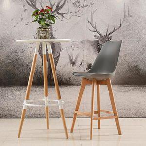 TABOURET DE BAR Lot de 2 chaises Hautes Grises Haute qualité + Sca