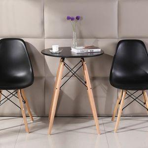 TABLE À MANGER COMPLÈTE Ensemble Table à Manger NOIRE de 2 à 4 Personnes R